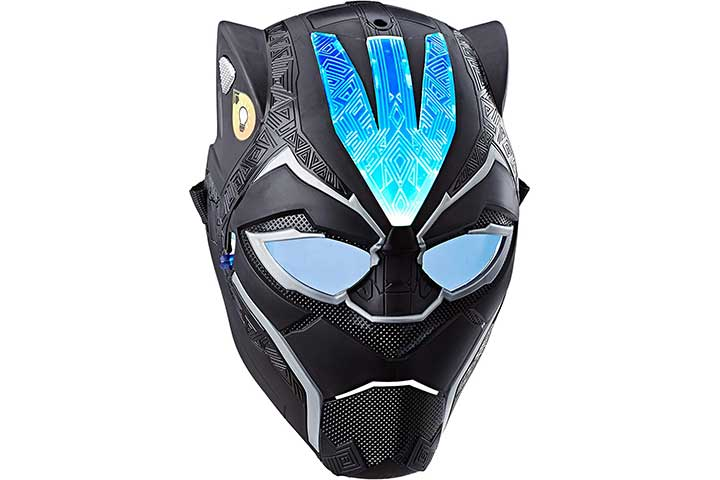 Marvel Black Panther Vibranium Power Fx Mask with Pulsating Light Effects