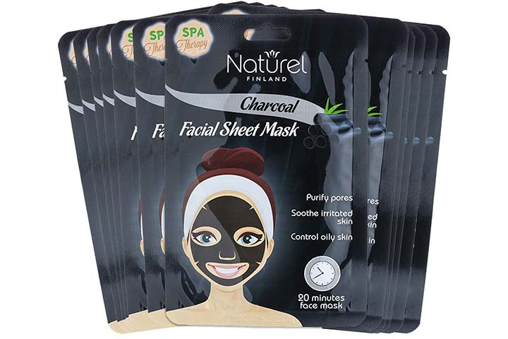 Naturel Finland Korean Charcoal Black Face Mask for Oily Skin and Pores