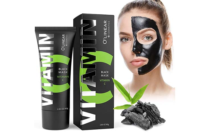 O'linear Black Charcoal Peel Off Mask with Organic Bamboo and Vitamin C