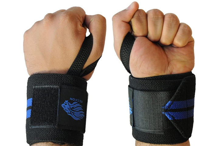 Reckon Wrist Wraps (30cm/60cm/80cm) Heavy Duty With Thumb Loops