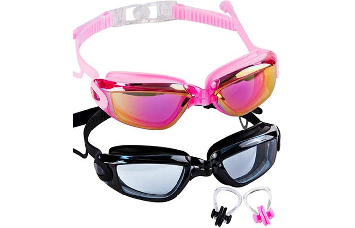 SBORTI Swim Goggles, Pack of 2 Adult Swimming Goggles