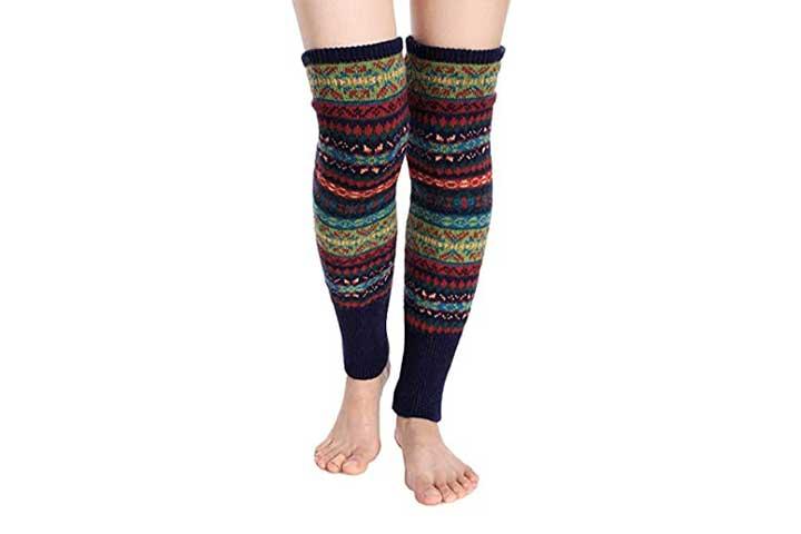 Santwo Women Knit Crochet Womens Leg Warmers