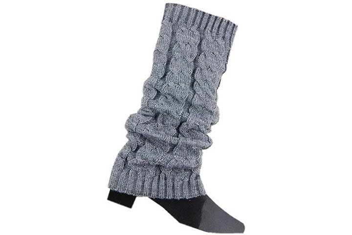 Senchanting Cable Knitted Crochet Leg Warmers for Women