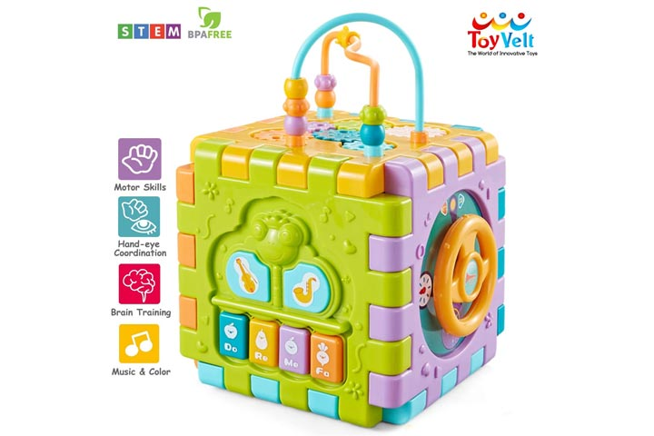 ToyVelt Activity Cube For Toddlers