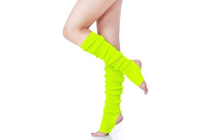 V28 Womens Neon Knit Leg Warmers