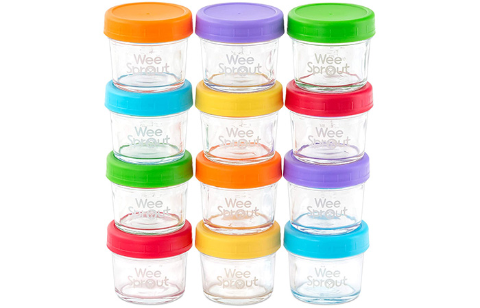 Wee Sprout Baby Food Storage Glass