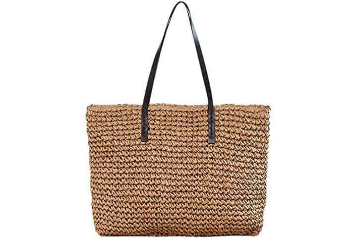 Ayliss Women Straw Woven Tote Large Beach Bag