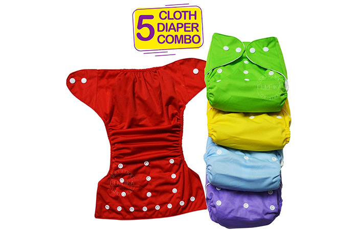Bambika B Plus Solid Cloth Diapers