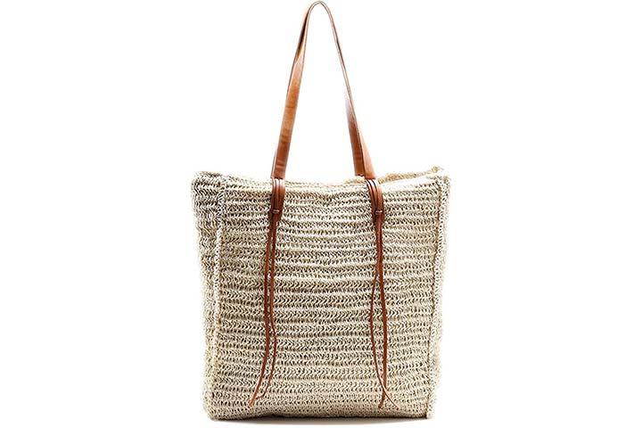 Beach Bag by Miss Fong, Beach Straw Bag