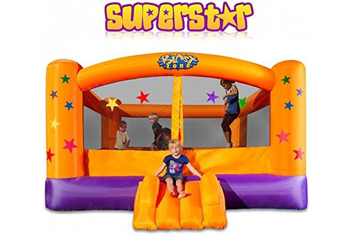 Blast Zone Superstar Inflatable Party Moonwalk