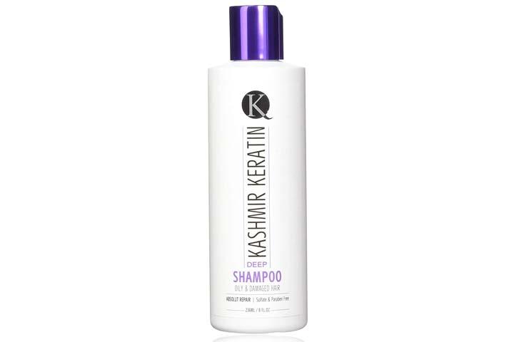 Kashmir Keratin Deep Shampoo For Oily and Damaged Hair