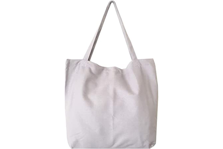 Large Utility Canvas and Nylon Travel Tote Bag Beach Bag
