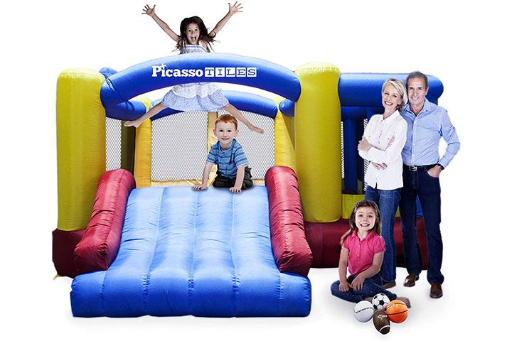 PicassoTiles KC102 Jump Slide & Dunk Bouncing House