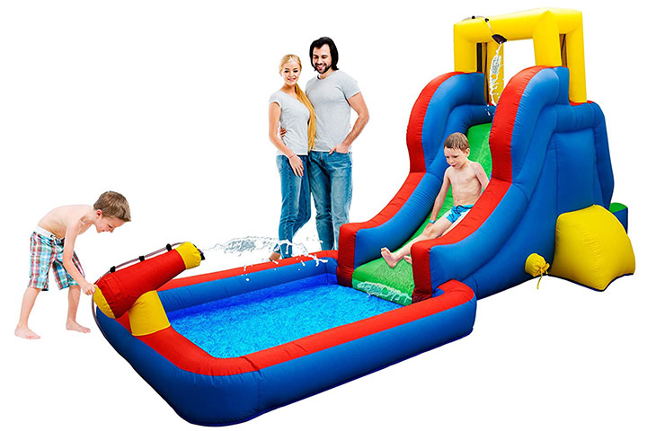 PicassoTiles KC108 Water Slide Park Inflatable Bouncing House