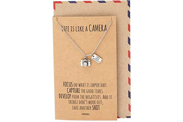 Quan Jewellery Vintage Camera Pendant Necklace