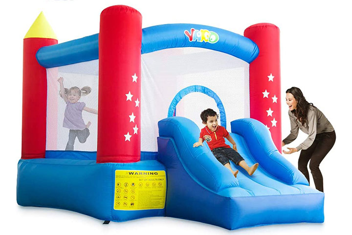 Yard Indoor Outdoor Bounce House with Slide Blower for Kids