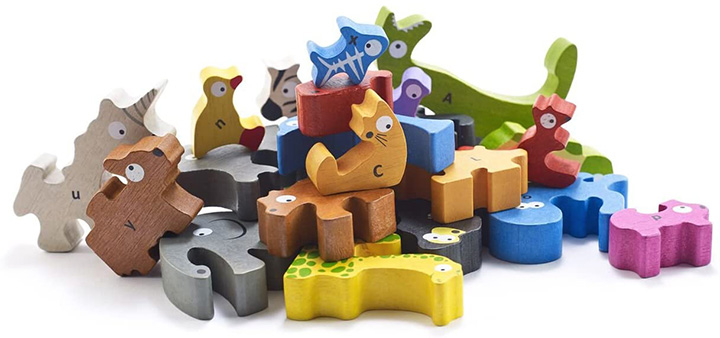 BeginAgain Animal Parade A to Z Puzzle and Playset