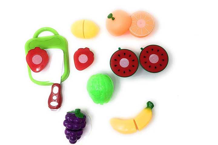 Blossom 10 Piece Set Slicable Fruit Basket Toy