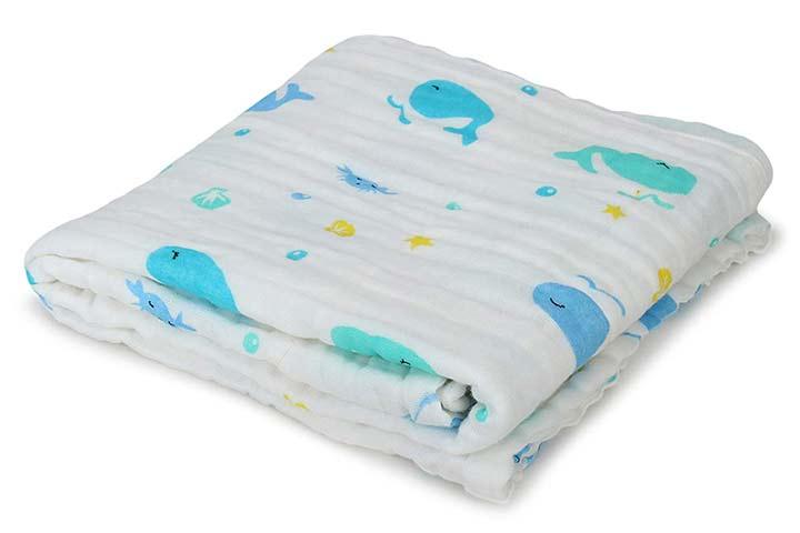 Cassie Pop Baby Muslin Cotton Bath Towel