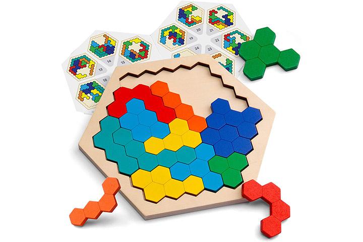 Coogam Wooden Hexagon Puzzle