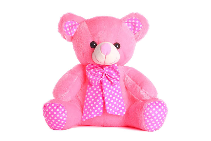 Deals India Pink Bow Teddy Bear Soft Toy