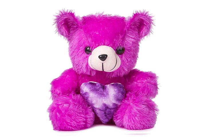Deals India Purple Heart Teddy Bear Soft Toy