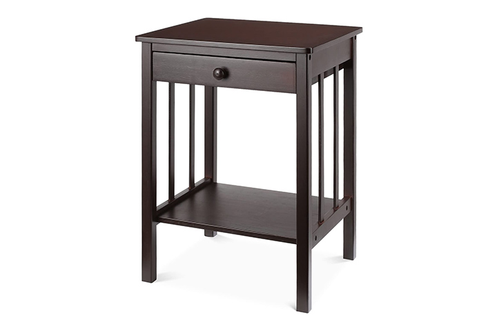 HOMFA Bamboo Night Stand End Table