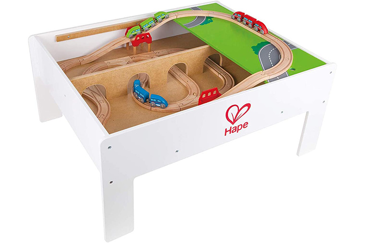 Hape Railway Play Activity Table For Wooden Trains
