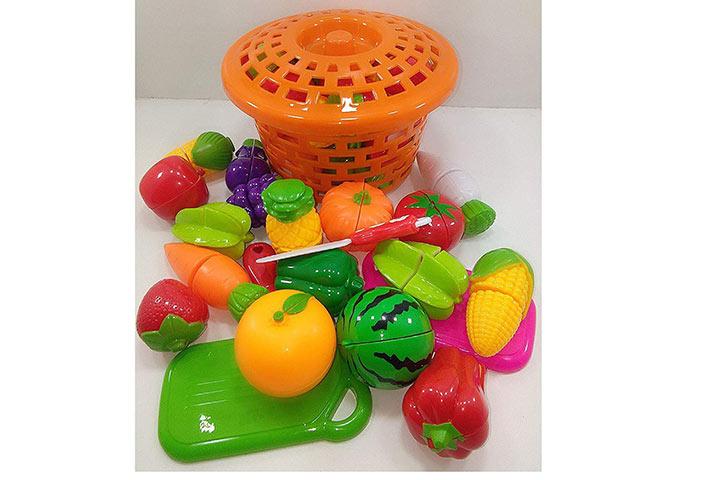 Kidz Enterprises Realistic Slicable Fruits And Vegetables