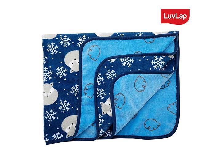 Lovelap Newborn Baby Soft Reversible Baby Blanket