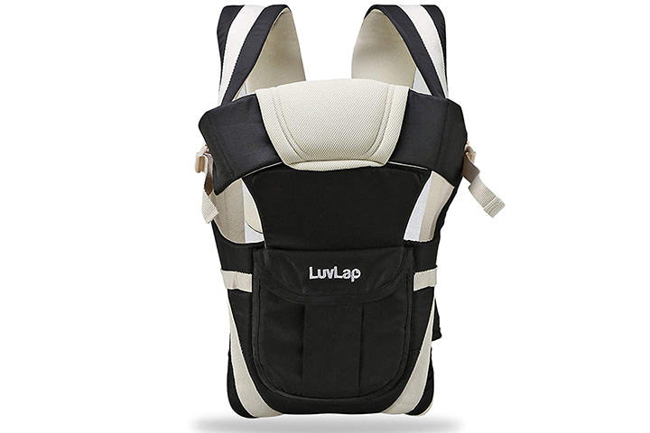 LuvLap Elegant Baby Carrier (Black)