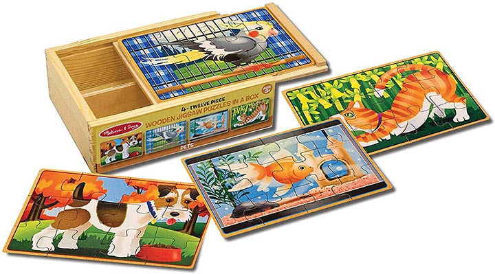 Melissa & Doug Wooden Jigsaw Puzzles - Pets