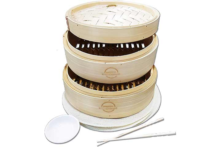 Mister Kitchenware Bamboo Steamer Basket