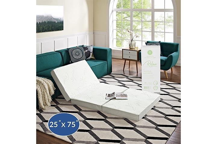 "Modway 4"" Relax Tri-Fold Mattress"