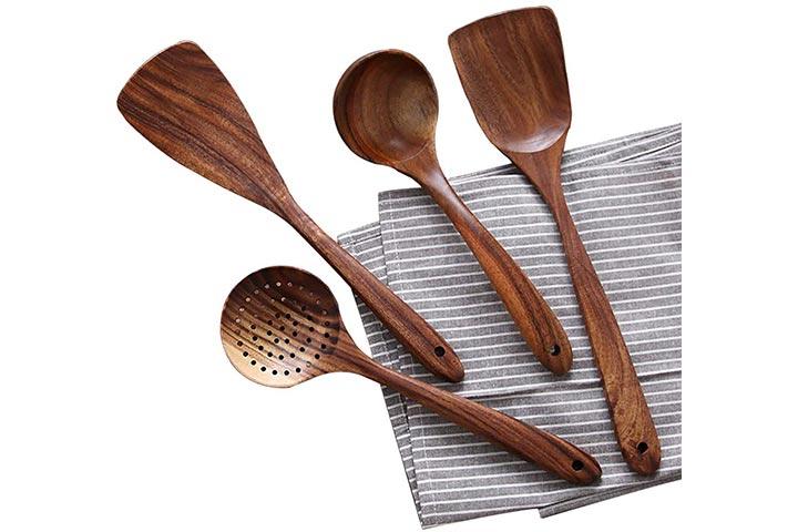 Nayahose Wooden Kitchen Utensils Set