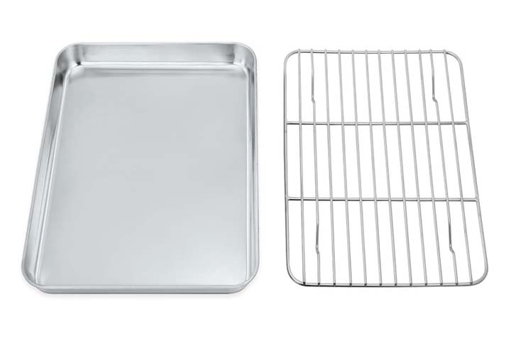 P-P CHEF Toaster Oven Tray and Rack Set
