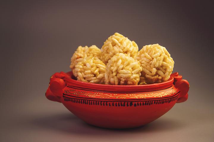 Puffed Rice Peanut Butter Balls
