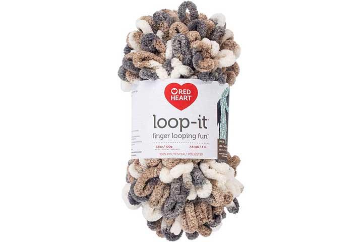 Red Heart Loop-It Yarn Mixtaupe