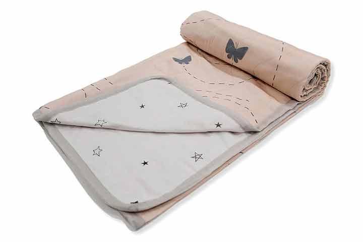 The White Cradle Organic Cotton Softest Baby Dohar Blanket Quilt