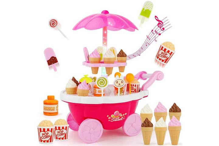 Toyshine Ice Cream Kitchen Play Cart