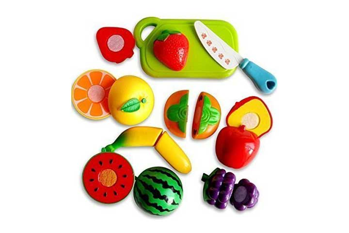 Toyshine Realistic Slicable 5PK Fruit Cutting Play Toy Set