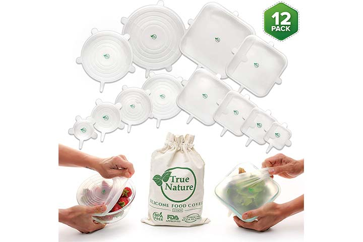 True Nature Silicone Stretch Food Covers 12-Pack