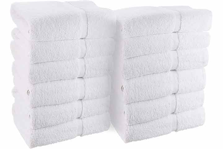White Classic Wealuxe Cotton Hand Towels