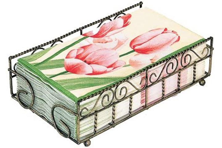 Boston International Garden Gate Design Guest Towel Napkin Holder Caddy