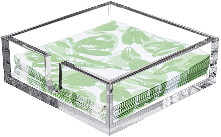 CY craft Acrylic Cocktail Paper Napkin Holder