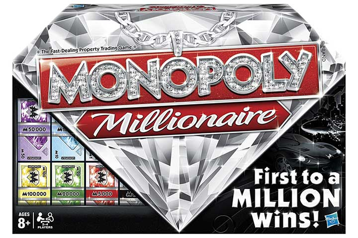 Hasbro Monopoly Millionaire - The Fast-Dealing Property Trading Board Game