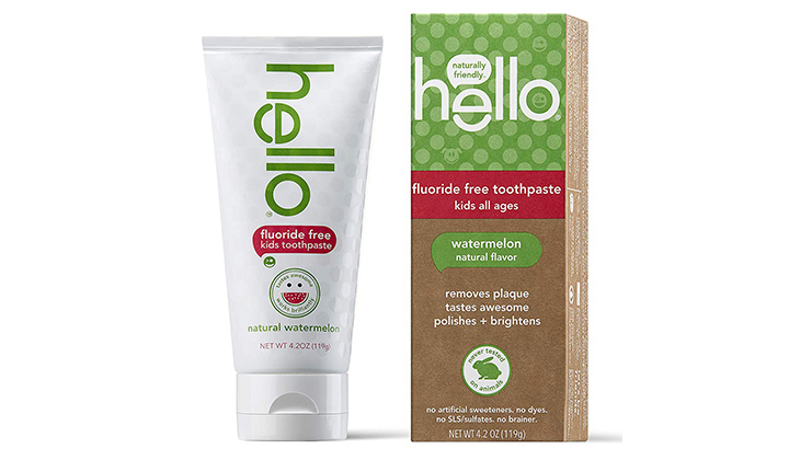Hello Oral Care Kids Fluoride-Free and Toothpaste