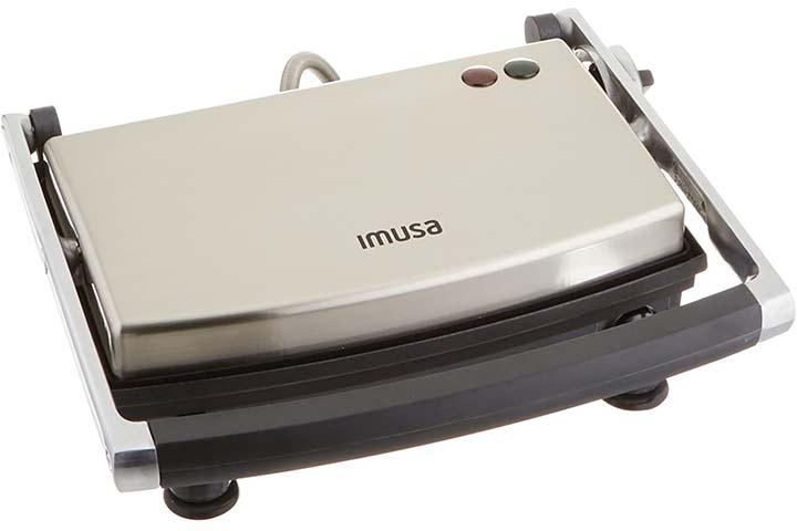 IMUSA USA GAU-80103 Electric Stainless Steel Panini Maker