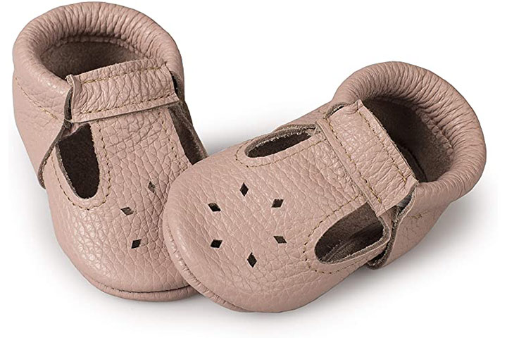 Little BeeMocs T-Strap Baby Moccasins