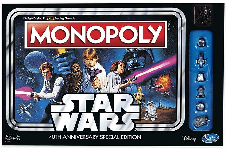 Monopoly Game Star Wars 40th Anniversary Special Edition